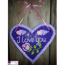Heart Decor - Heart Wall Hanging - Heart Wall Decor - Purple Heart Decor - Purple Heart Rustic Decor - Salt Dough Heart - Octoberfest Decor