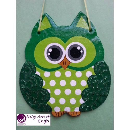 Perfect Owl Decor   Owl Wall Hanging   Owl Wall Decor   Green Owl Decor   Green Owl  Nursery Decor   Polka ...