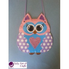 Owl Decor - Owl Wall Hanging - Owl Wall Decor - Pink Owl Decor - Pink Owl Nursery Decor - Polka Dot Owl - Wall Hanging - Salt Dough