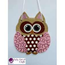 Owl Decor - Owl Wall Hanging - Owl Wall Decor - Red Owl Decor - Red Owl Nursery Decor - Polka Dot Owl - Wall Hanging - Salt Dough Hanger
