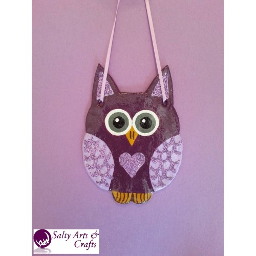 Owl Decor Wall Hanging Purple Nursery